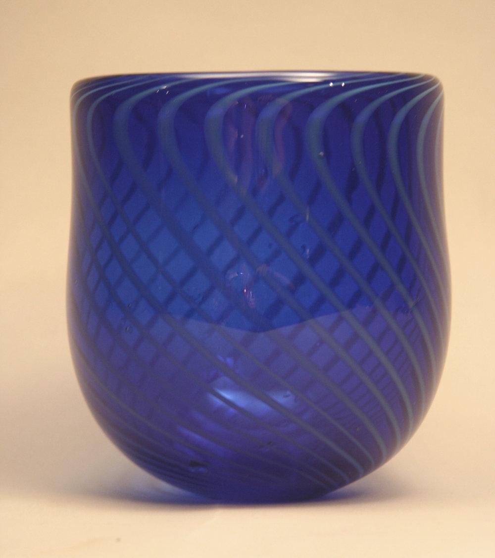 "Vase with cane, 8""x10"""
