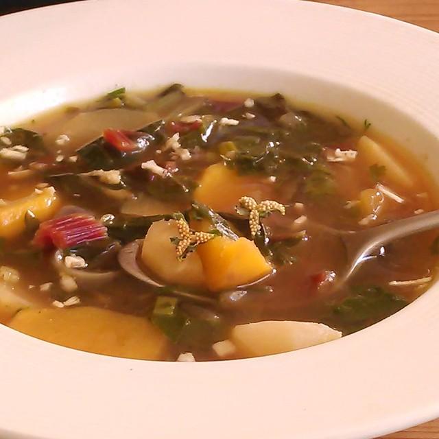 Høstsuppe med russekål rot