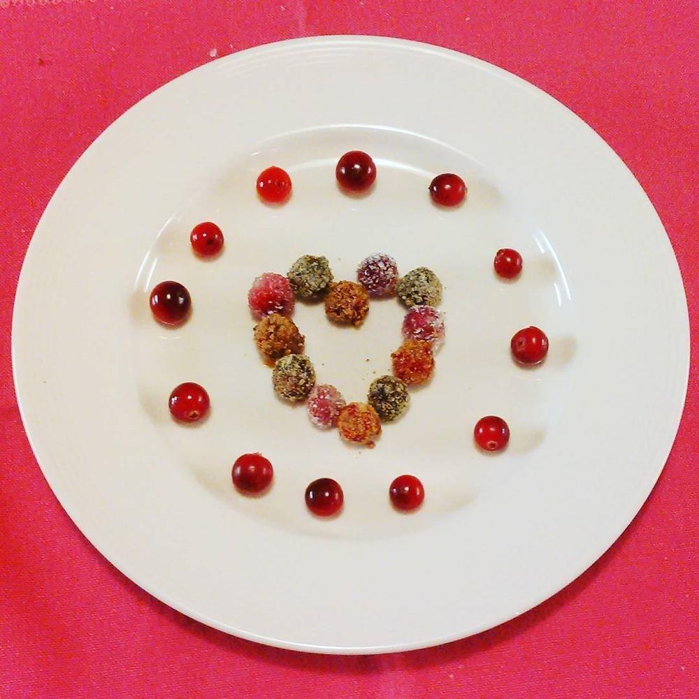 Små tranebær godterier