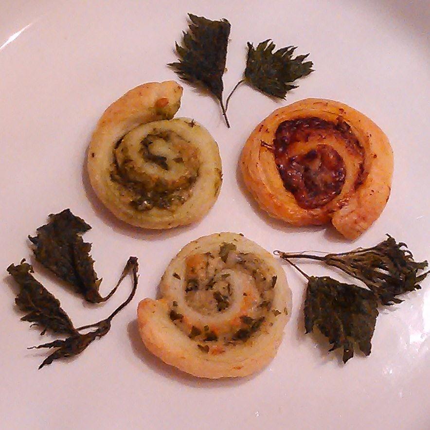 Snå snacks med melkesyregjæret egsyre, brennesle og ramsløk. Brennesle chips.