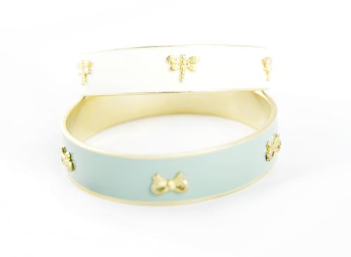 df3ea050c54e7f Anna Lou of London Gold & Ceramic Bangle Bracelet Pair — Hayden's Closet