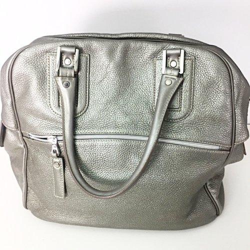 Longchamp Silver Grey Sparkle Oversized Tote — Hayden s Closet 039a3693ba062