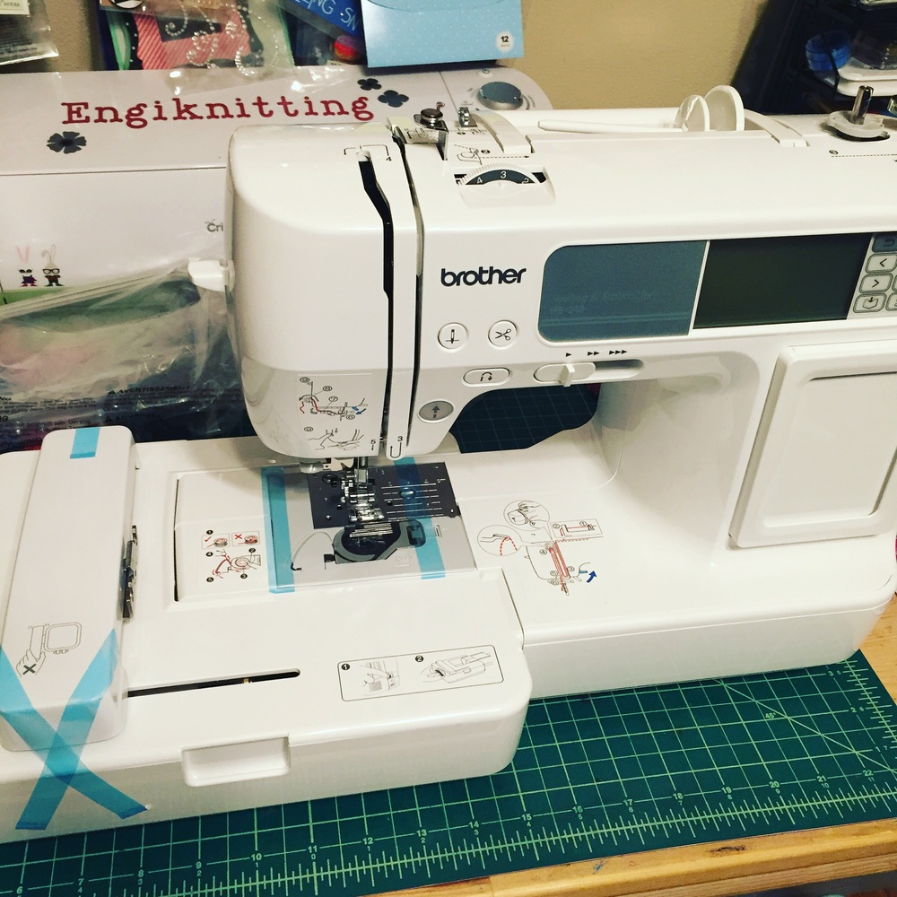 New embroidery machine.