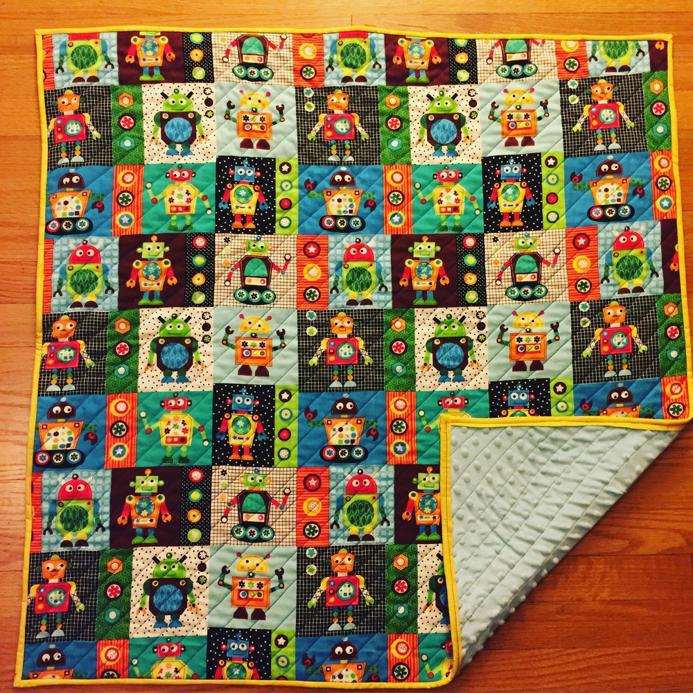 Baby Quilt with Minky