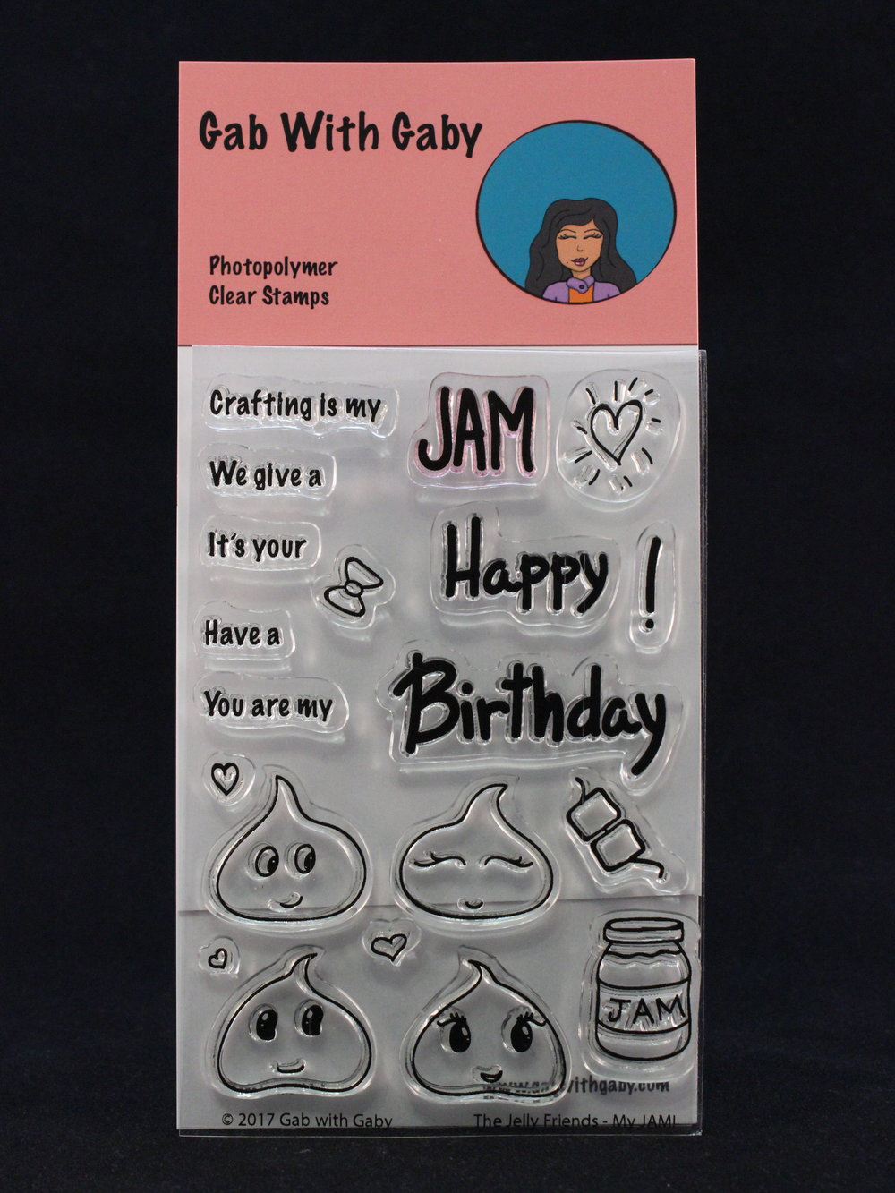 "These are the Jelly Friends, in their first stamp set -""My JAM!"" This set will let you wish someone a Happy Birthday or tell them they're your jam."