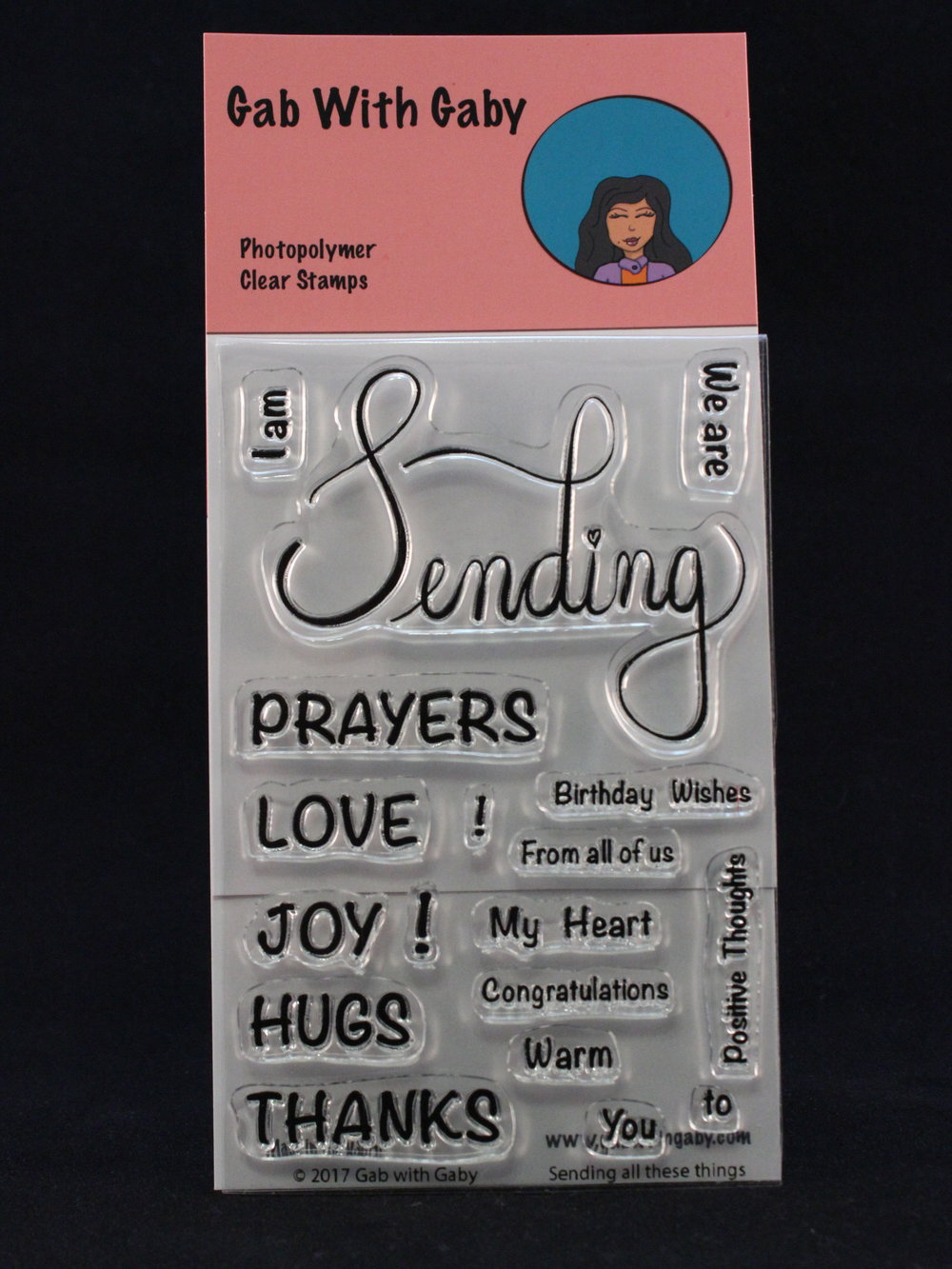 "This sentiment set will cover a lot of different occassions and the hand scripted ""Sending"" will add an elegant touch to any card."