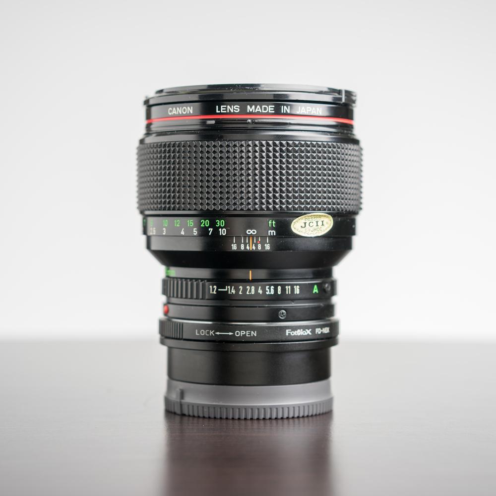 Canon FD 85mm f/1.2L