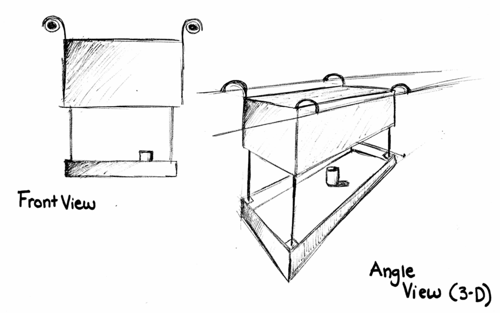 sketch of drop down loading mechanism