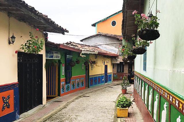Cute corner in Guatapé 💙🌻💚🐑💛🌺 . . . #colombia #guatapé #travelcolombia #travelsouthamerica #cntraveler #tlpicks #tbt #theculturetrip #cerealmag #mochilawayuu #obelo #zocolo #zocolos