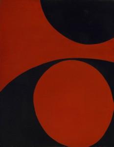 June Harwood, Rouge et Noir, (Colorform Series) , acrylic on canvas, 1965