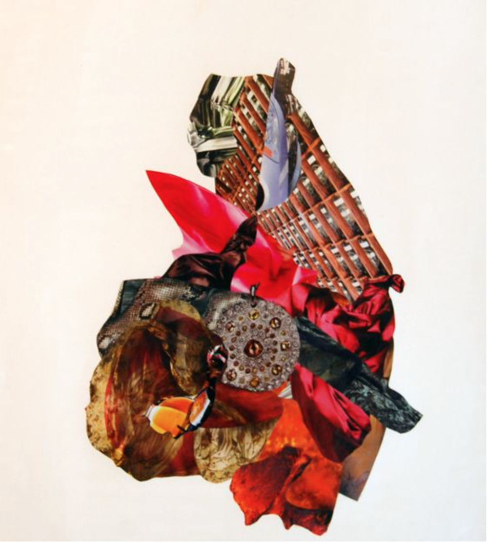George Herms,  Xenophilia,  Collage,  28 x 22 in,  2011. Courtesy of the artist,© George Herms