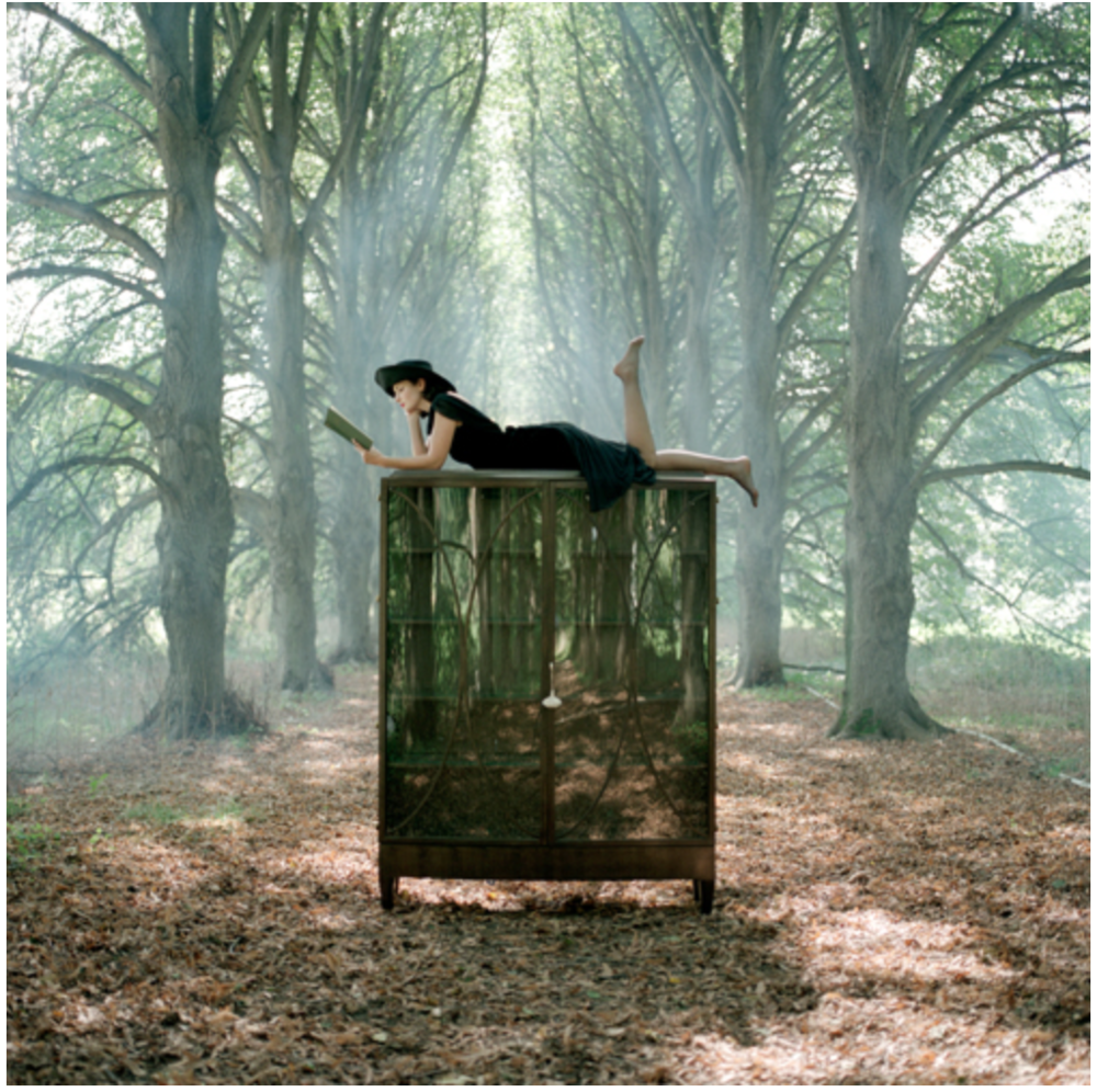Rodney Smith,  Zoe Llying on Cabinet Reading, Long Isalnd, New York  (REF-BAB-1104-025-10), 2004, Ed. 25. 16 x 20 Archival Pigment Print, 20 x 24 Archival Pigment Print, 34 x 40 Archival Pigment.  Print. Image courtesy of the artist.