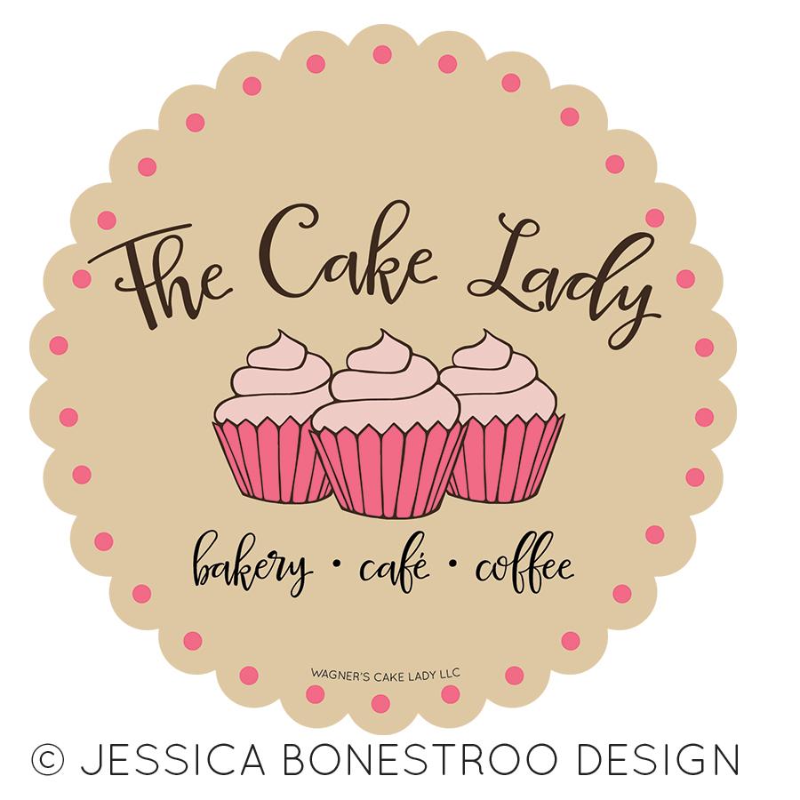 the cake lady logo design northwest iowa graphic