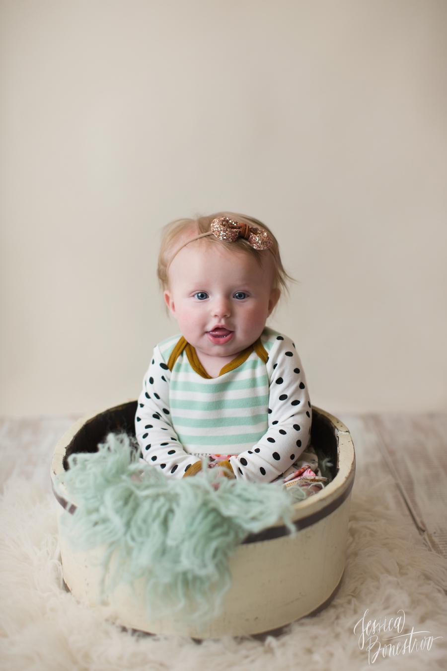 hadley, 4 months, iowa baby photographer, baby girl, baby plan, Jessica Bonestroo Photography