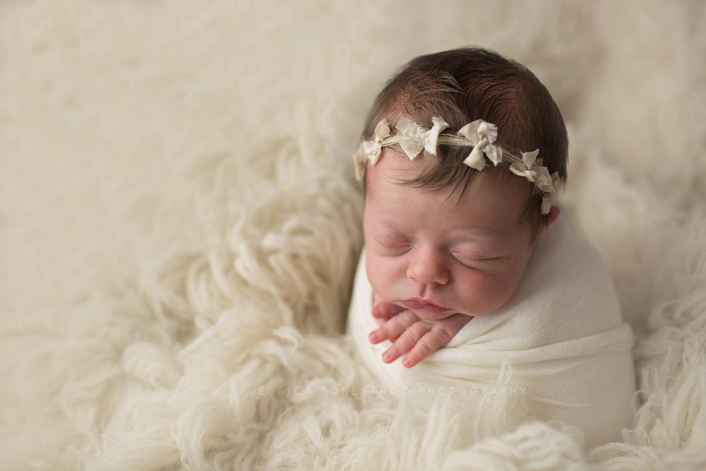 claire, iowa newborn photographer, newborn session, hull, iowa, baby girl, jessica bonestroo