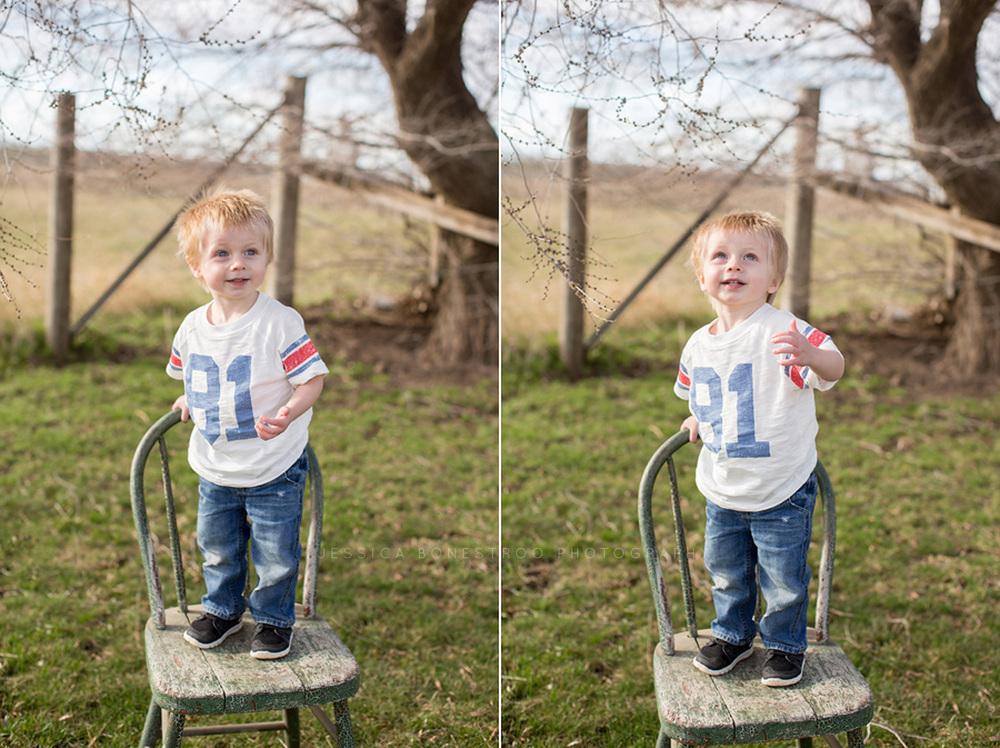 oliver jay, iowa children's photographer, children, two years old, hull, iowa, jessica bonestroo photography,