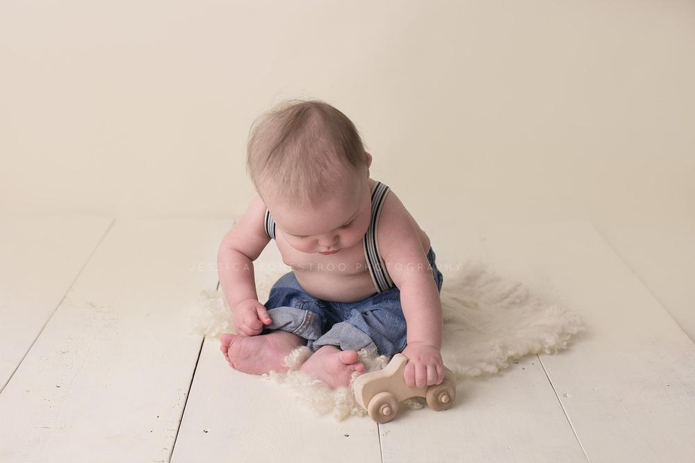 jensen, iowa baby photographer, 6 months, sitting, baby tie,  wagner, south dakota, hull, iowa, jessica bonestroo photography