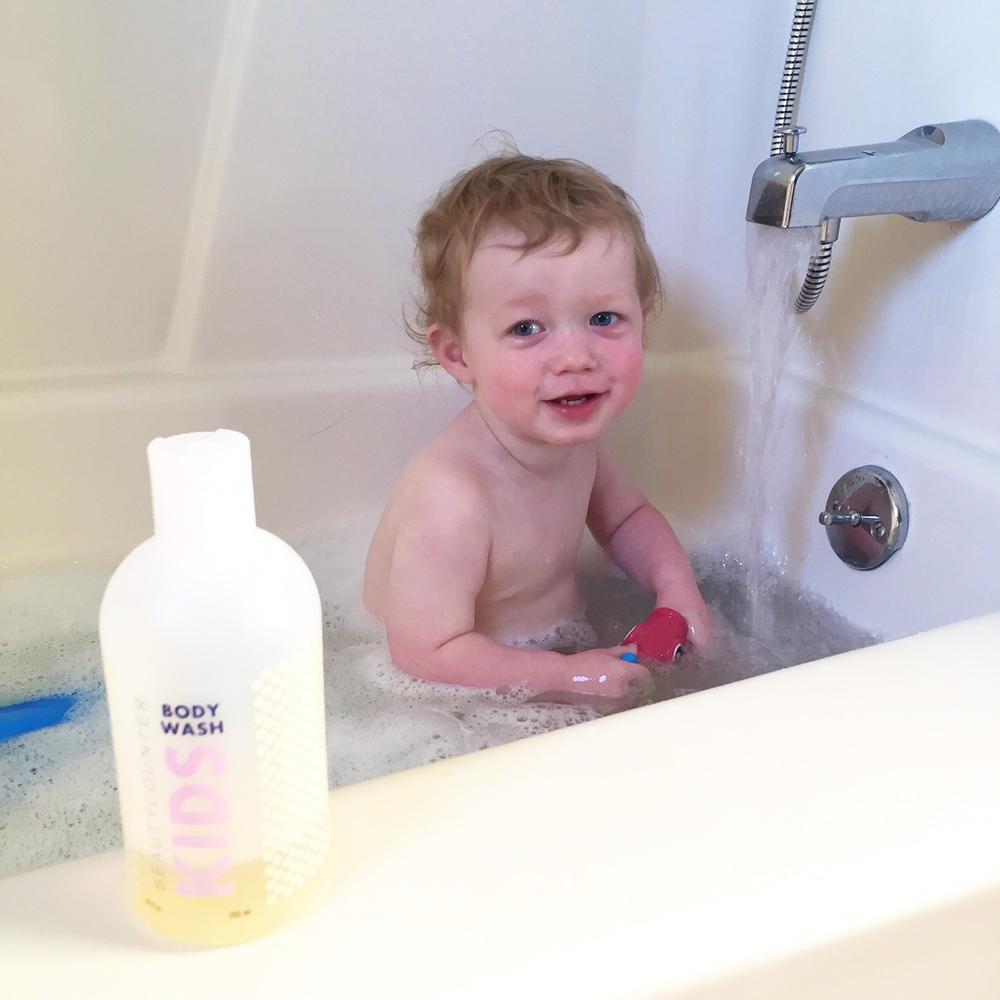 micah thomas, beautycounter, kids bath wash