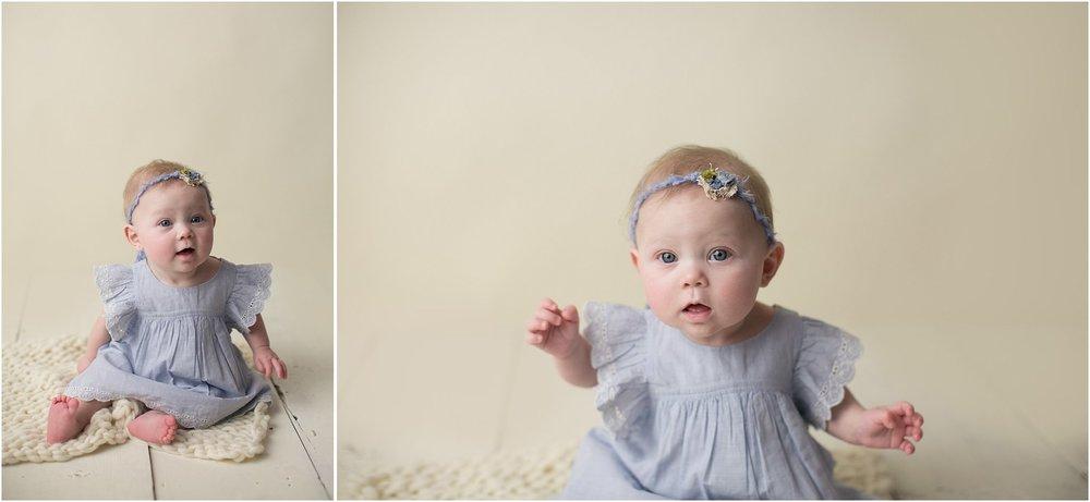 Eva, 6 month session, jessica bonestroo photography, studio, baby girl, northwest iowa