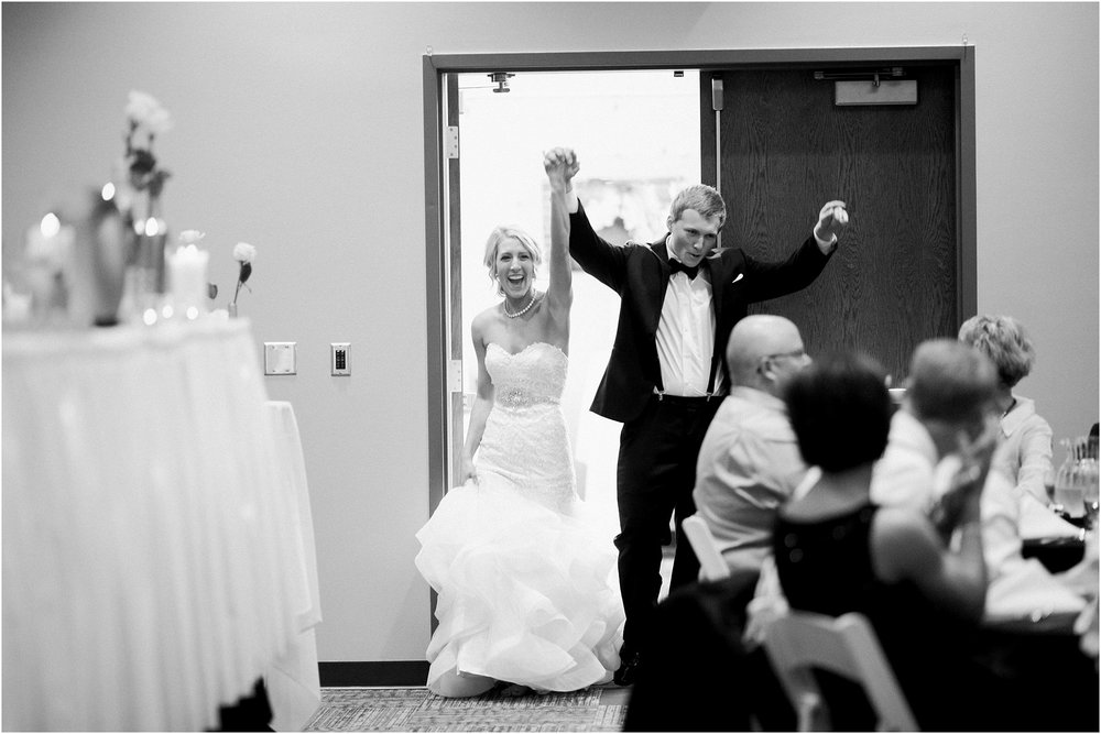 © Jessica Bonestroo Photography, Graham and Mariah, Terrace View Event Center, floral robes, black and white, Iowa Wedding Photographer