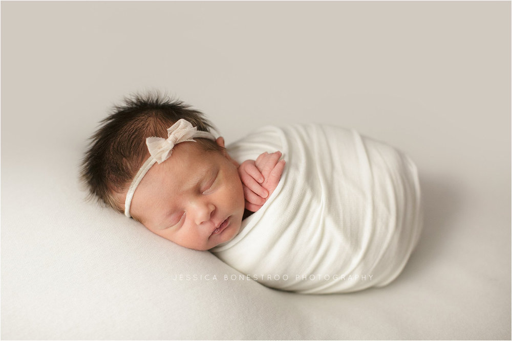 scarlett, newborn, dark hair, baby girl, northwest iowa, newborn photographer