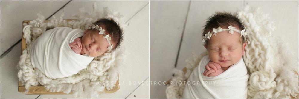 scarlett, newborn, dark hair, baby girl, northwest iowa, newborn photographer