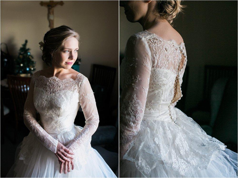 grandmother's vintage wedding dress
