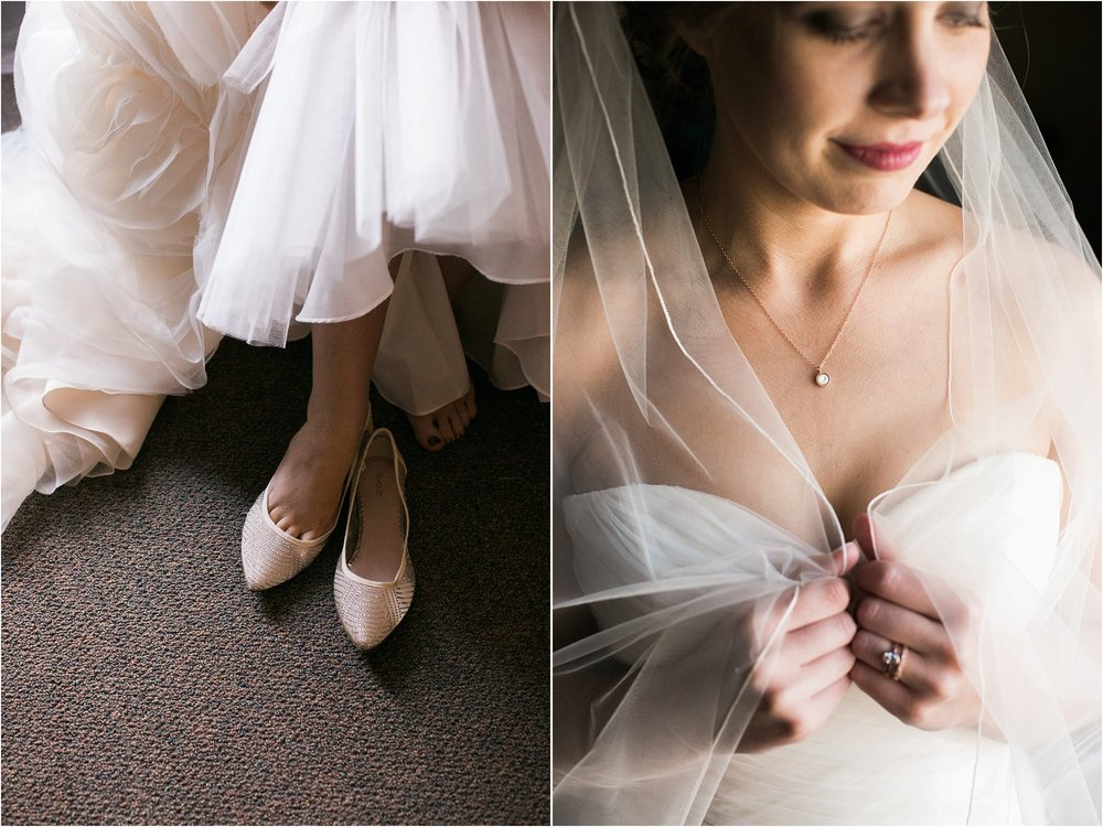 sparkly shoes and wedding veil