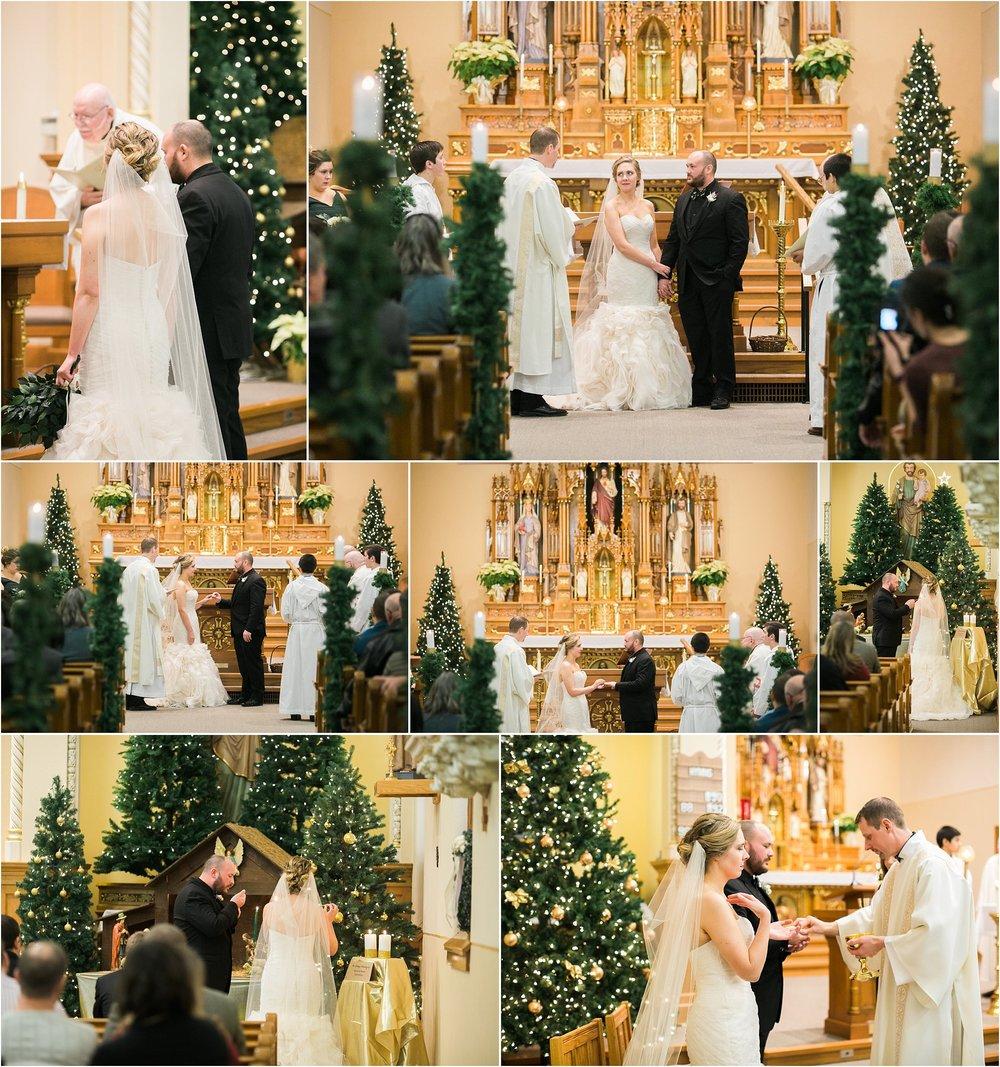 christmas tree wedding decor catholic church