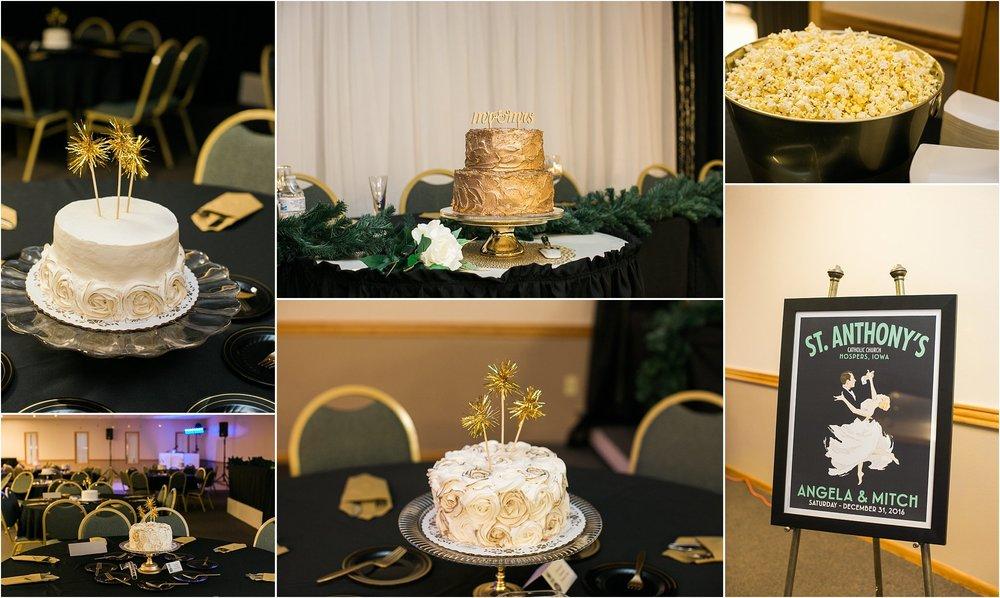 new years eve wedding gold cake