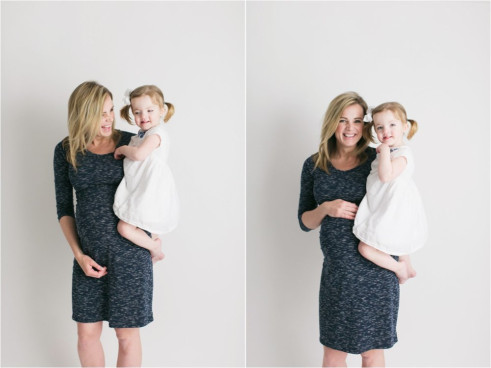 madison and ainsley all white maternity session