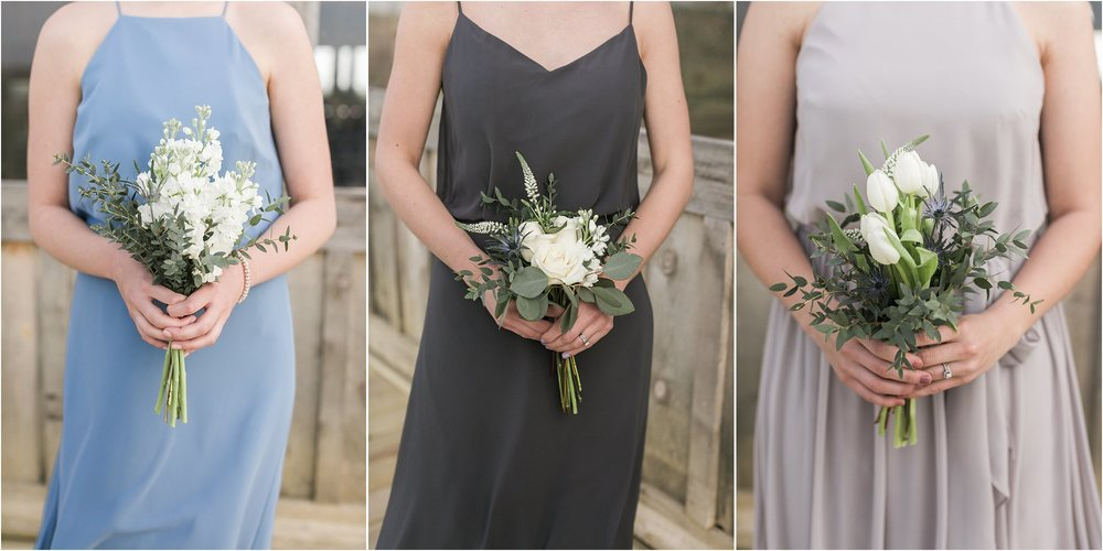 different bouquets for each bridesmaid