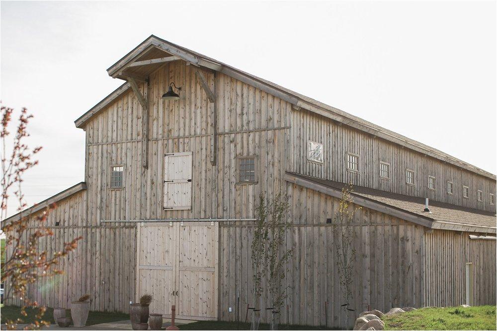 Tucker Hill Winery barn at sunset