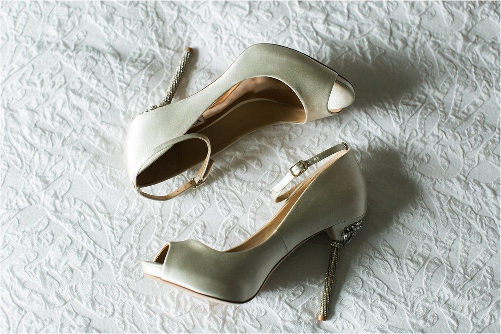 wedding stilettos with jeweled heel