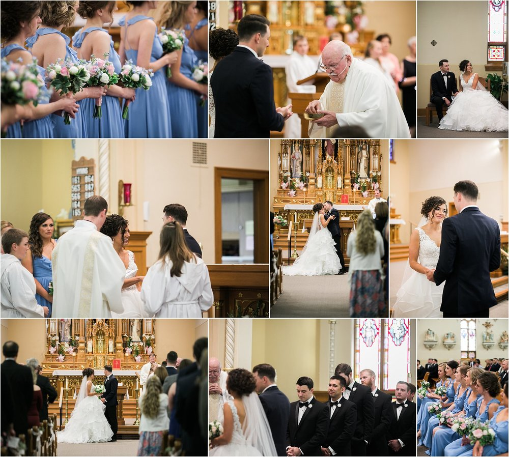 bride and groom in a traditional catholic wedding