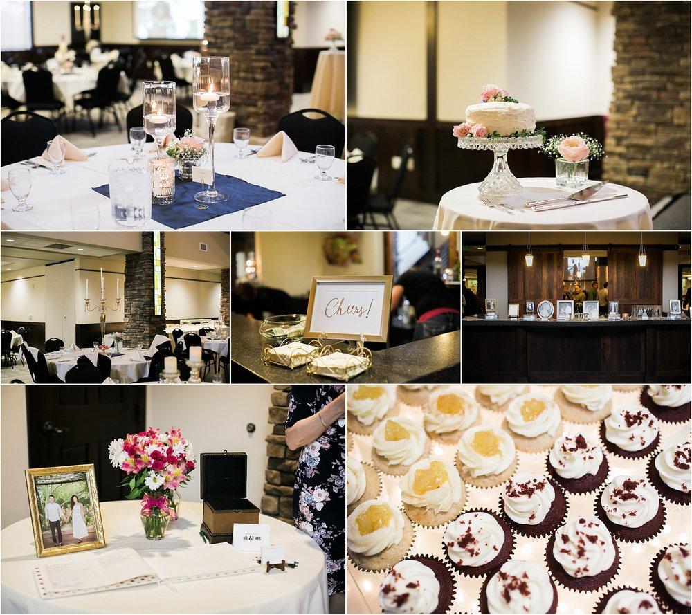 navy and cornflower blue wedding reception details