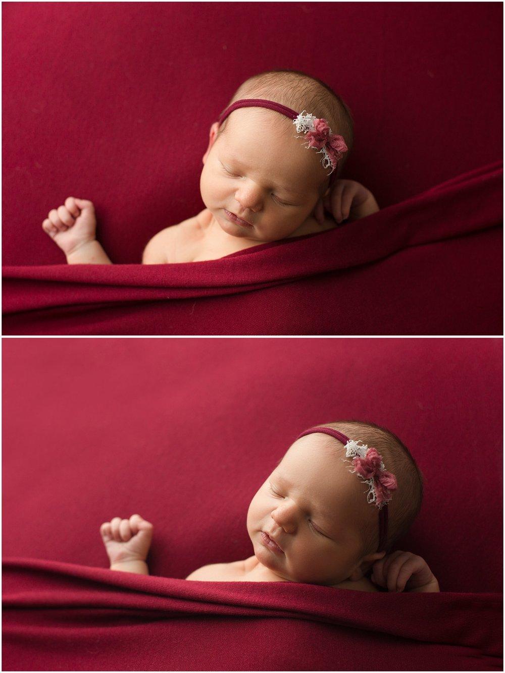 adlee ann tucked in newborn pose