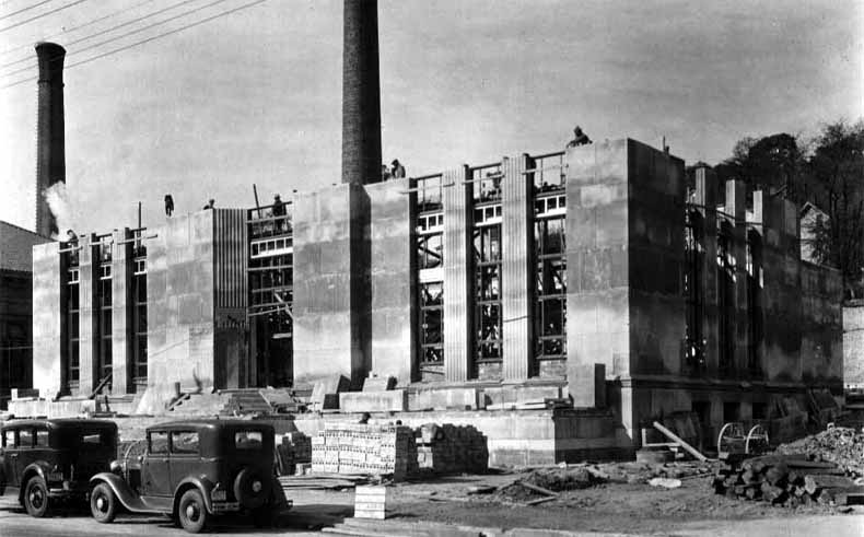 The new Western Hills Pump Station being constructed in the mid-1930s. [6]