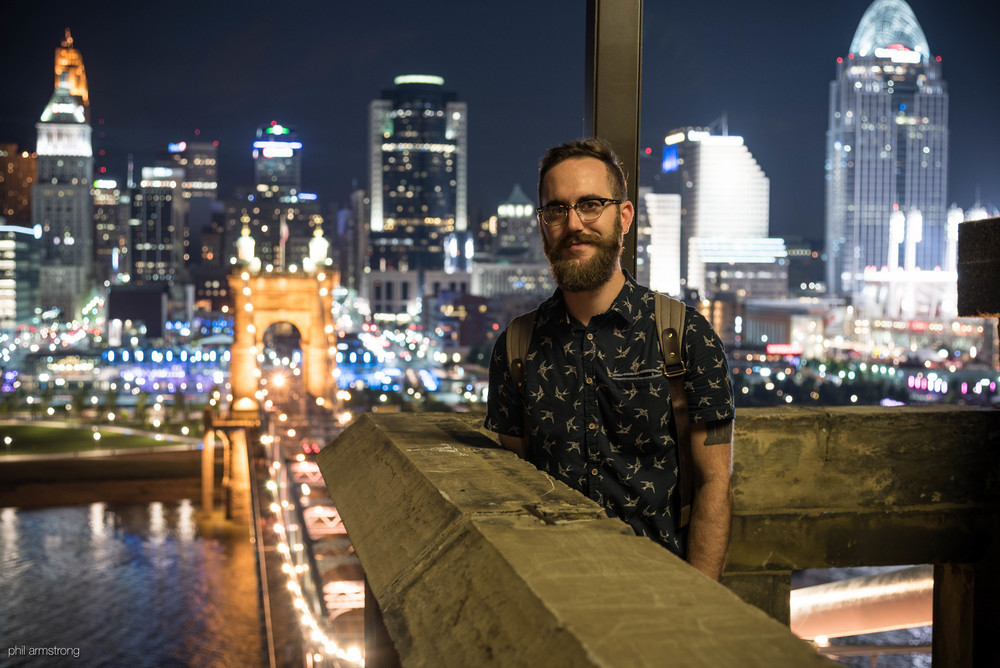 July 15th, 2016: an expedition to the top of the south tower of the Roebling Bridge.  I set the tripod and started a timer.  I'll treasure that night forever.