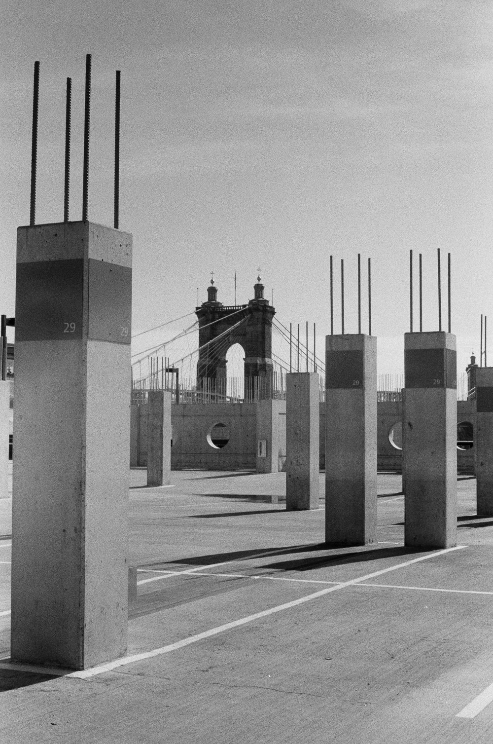 Pillars to the Roebling Bridge