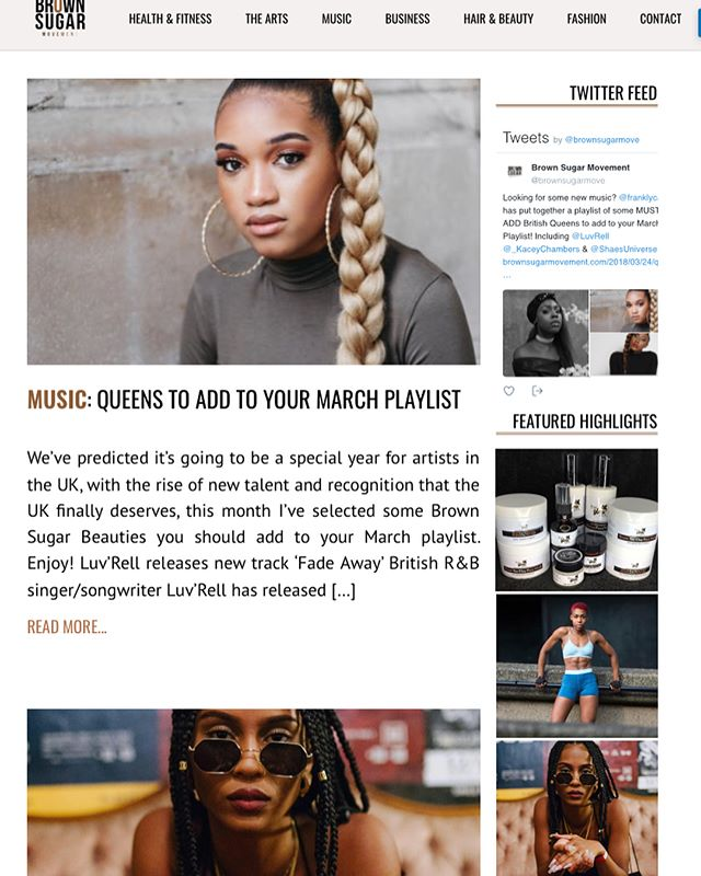 Absolutely in love with this write up on My New Single Camouflage 😳❤️ thank you [@franklycasey // @brownsugarmove] Queen's it's our time !!! @iamddb // @shaesuniverse // @luvrell 👑
