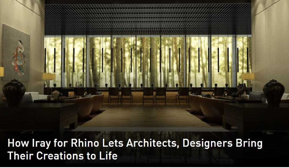 News: Nvidia Iray for Rhino is now Available (plus 90 day free trial