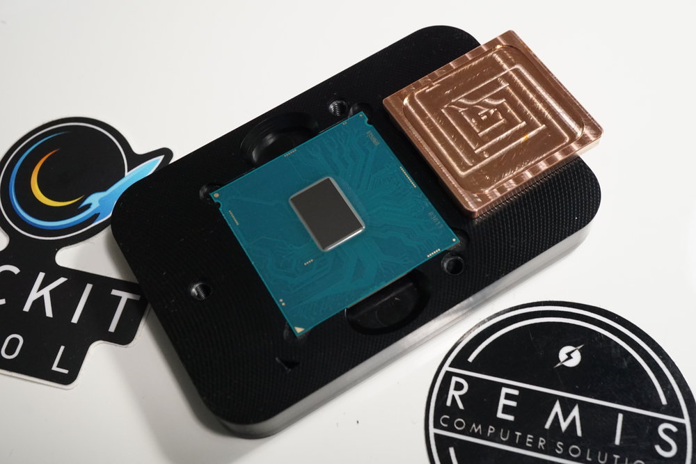 Intel Delid with CNC Copper IHS