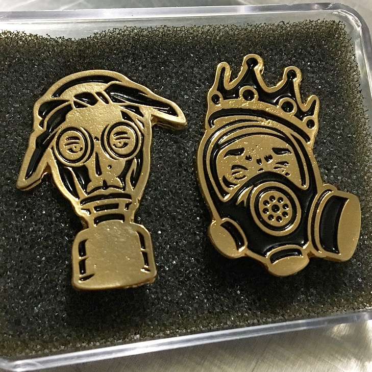 PREZ ONE x Freehand Profit Pins! Grab the newest color way of Tupac & Biggie Gas Face Pins for just $25!