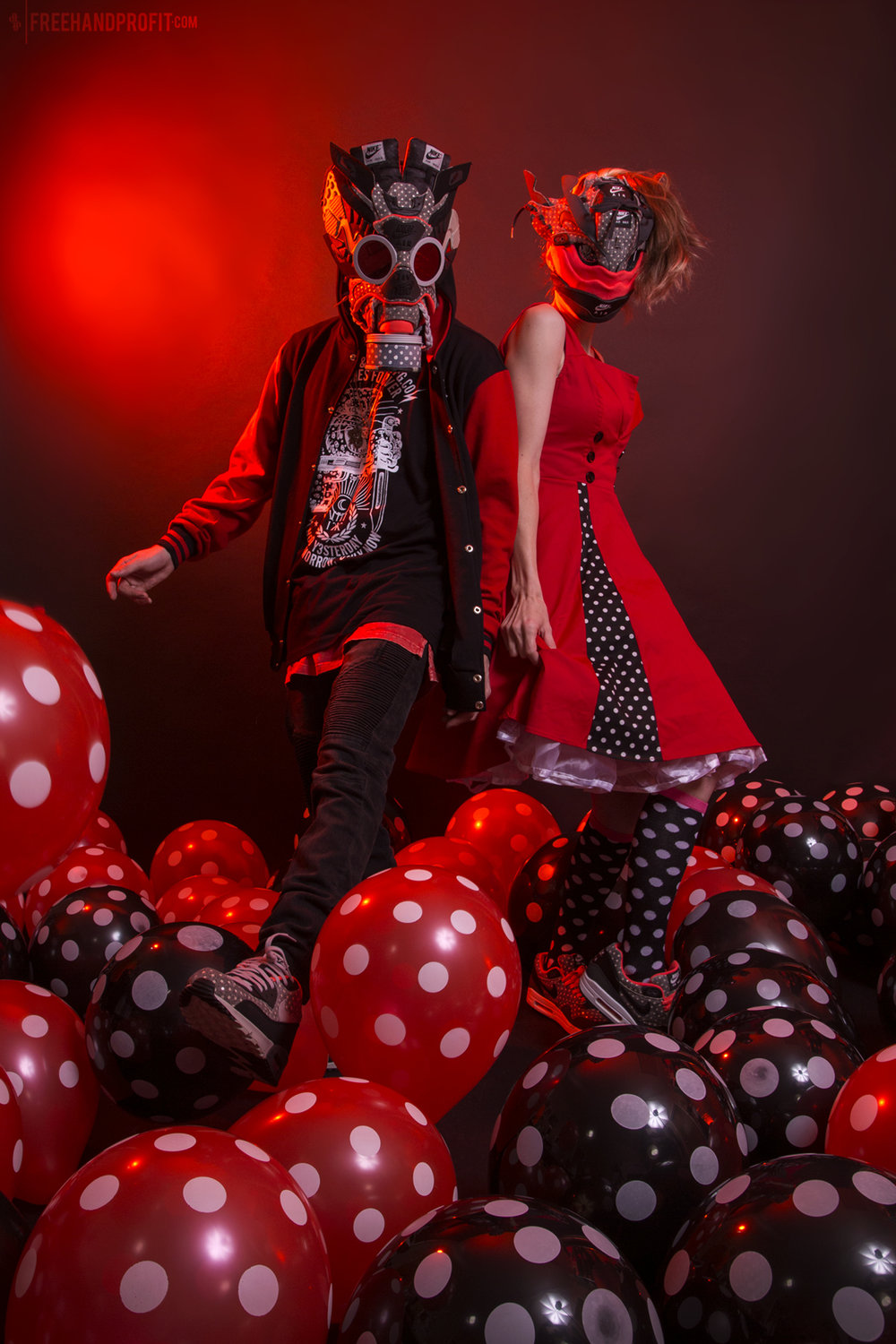 No.142 & 143: Polka Dot Air Max 90 Gas Mask & Air Max 1 Mask  [CLICK FOR MORE]