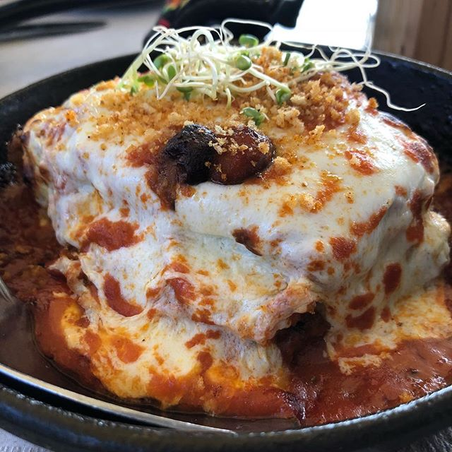 70* for this cold day, we offer our super hot eggplant mozzarella Parm • So delicious . . . . . #chef #food #restaurant #photooftheday #foodblog #influencer #enjoy #travel #yum #taste #bite #miami #lunch  #southbeach #yummy #sobe #lunchy #delicious #usa #dinner #brunch #fresh #tasty #yummy #wow #lol #amazing #blogger #egg