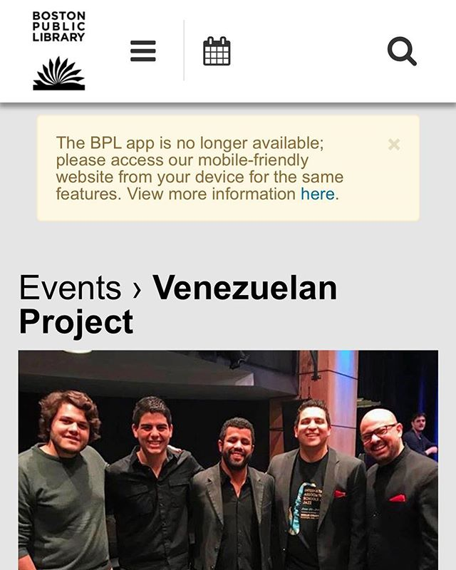 Today performing at the Boston Library with the Venezuelan Project!  @josuortiz we will miss you! #boston #bostonevents