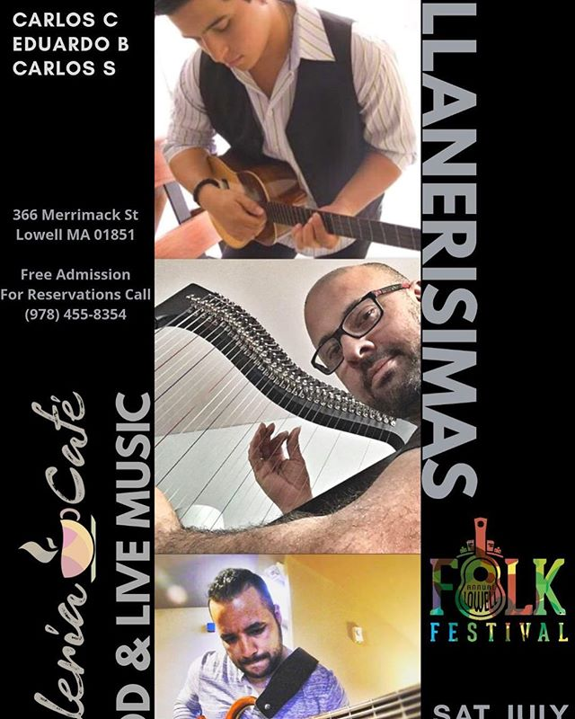 Tomorrow the invitation is in the Lowell Folk Festival at @galeriacafe366 with this venezuelan combo @bordoneando @sulbacarlos I hope to see everyone over there! Keep tuning ! #lowell #bostonevents #berkleealumni #boston #music #worldmusic #monocreators #venezuelanmusic #cuatrovenezolano