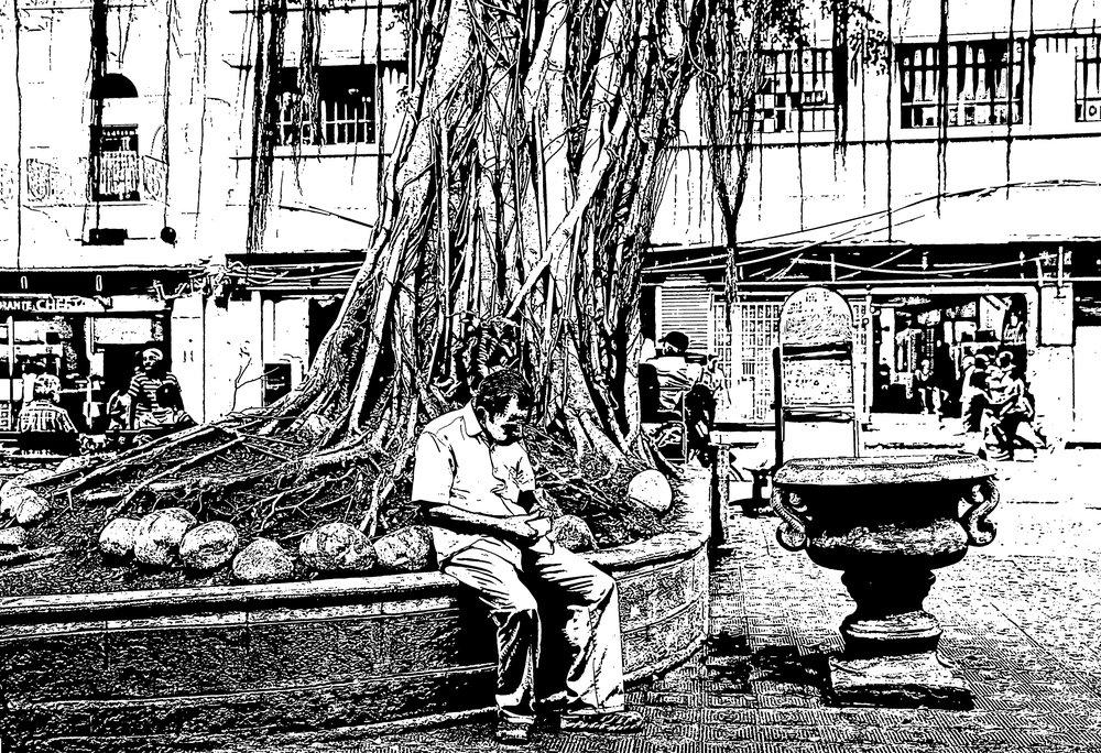 Santa Ana Square. Casco Viejo, Panama.
