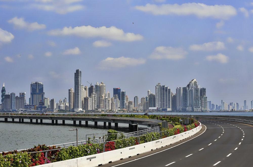 Amador Causeway. Panama City, Panama.